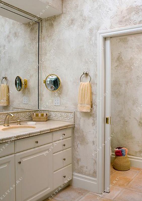 декоративная штукатурка для ванной комнаты фото